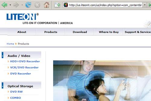 Mr. and Mrs. Joker on LITE-ON IT's American web site